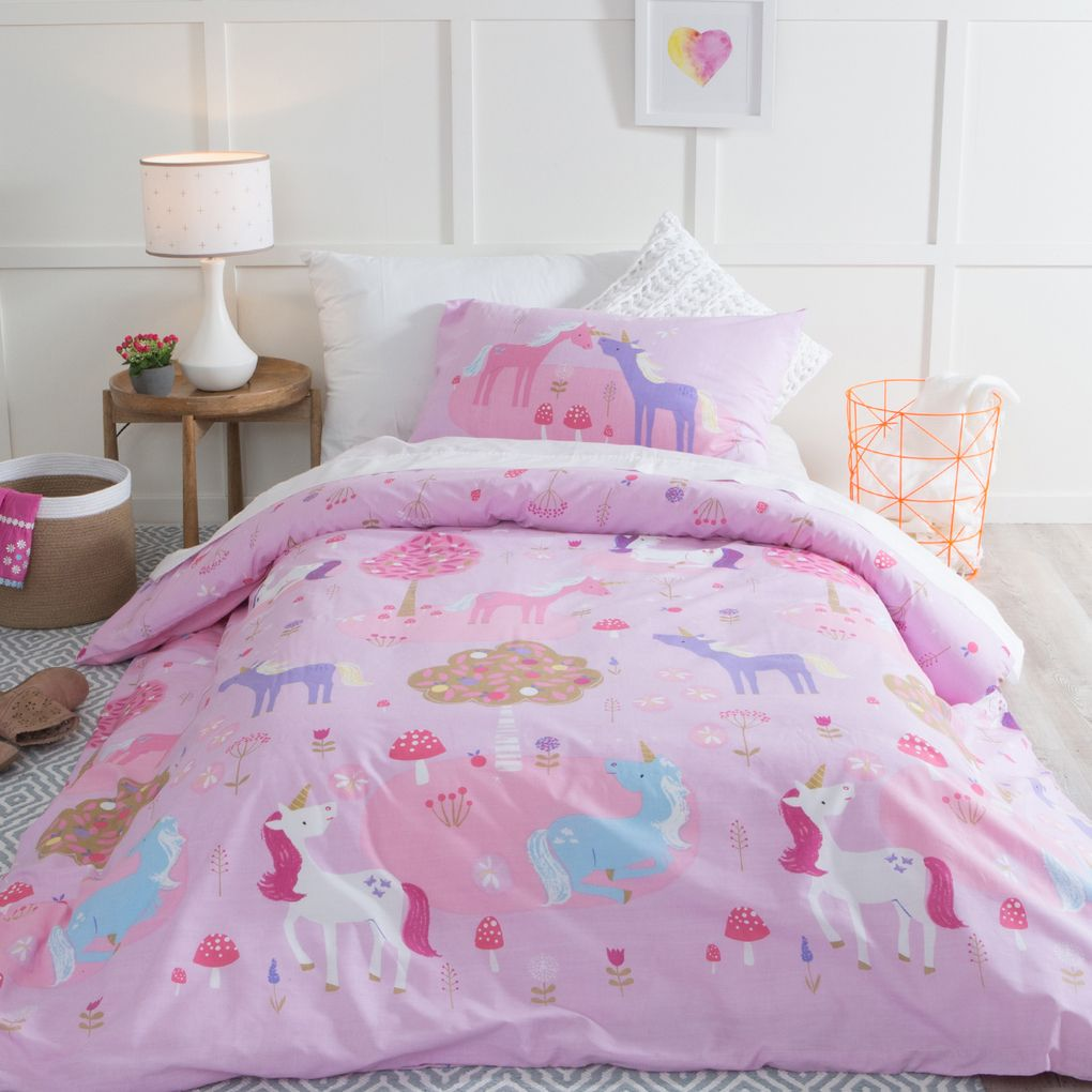 Unicorn Dreams Quilt Cover Set