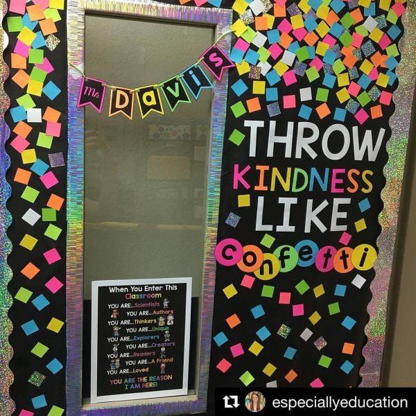 Throw Kindness Confetti Amazing Door