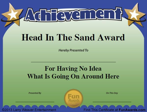 funny employee recognition awards certificates