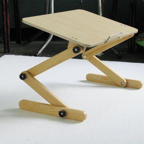 Bamboo Computer DeskLap DeskLep Desk With LampLaptop
