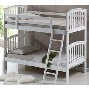 White 3ft Single Wooden Bunk Bed