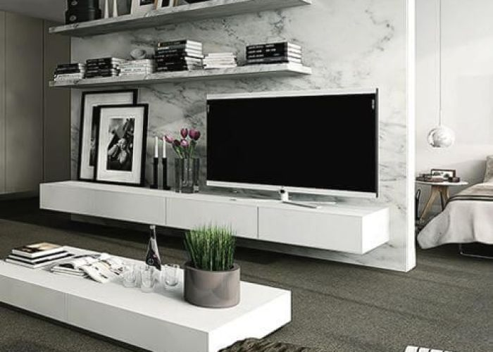 tv wall decor ideas marble wallwhite marblemodern living also room decorating