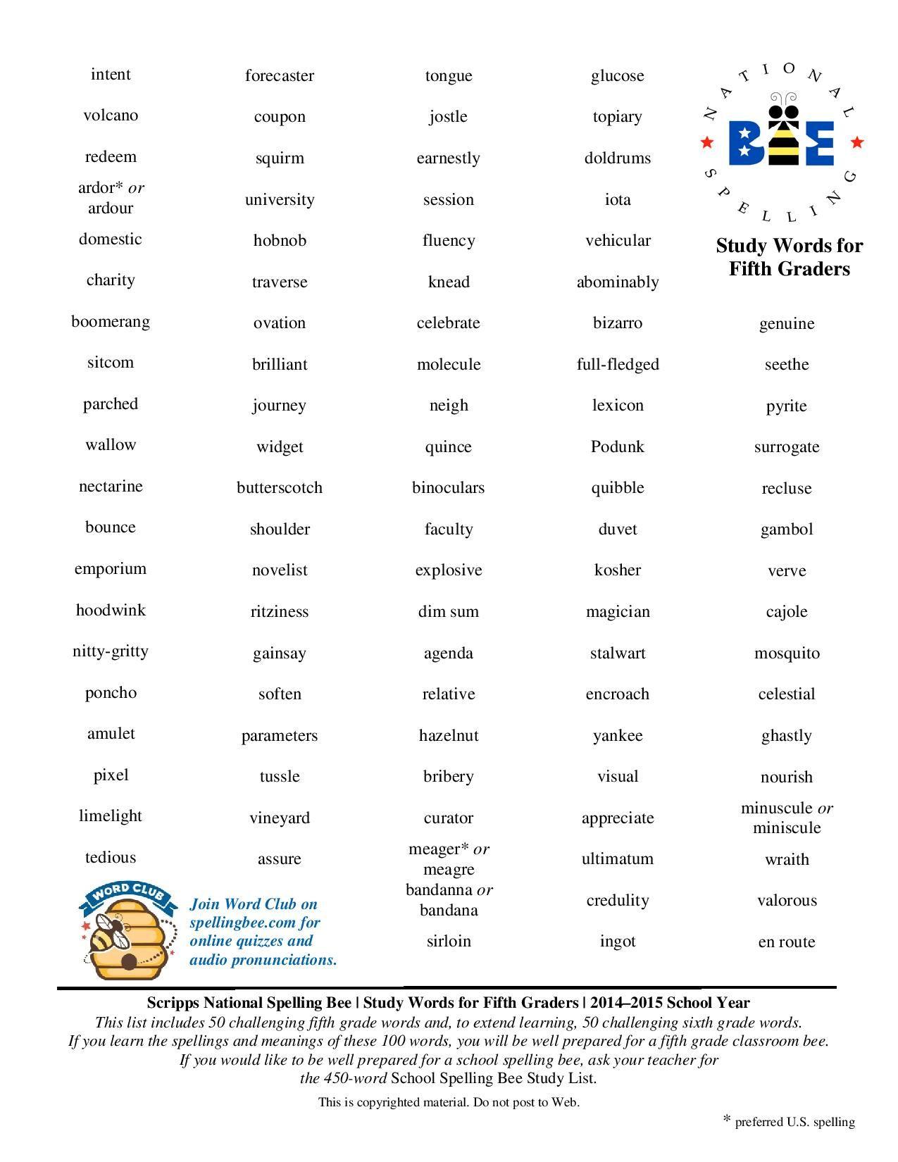 Vocab Worksheet 8th Grade