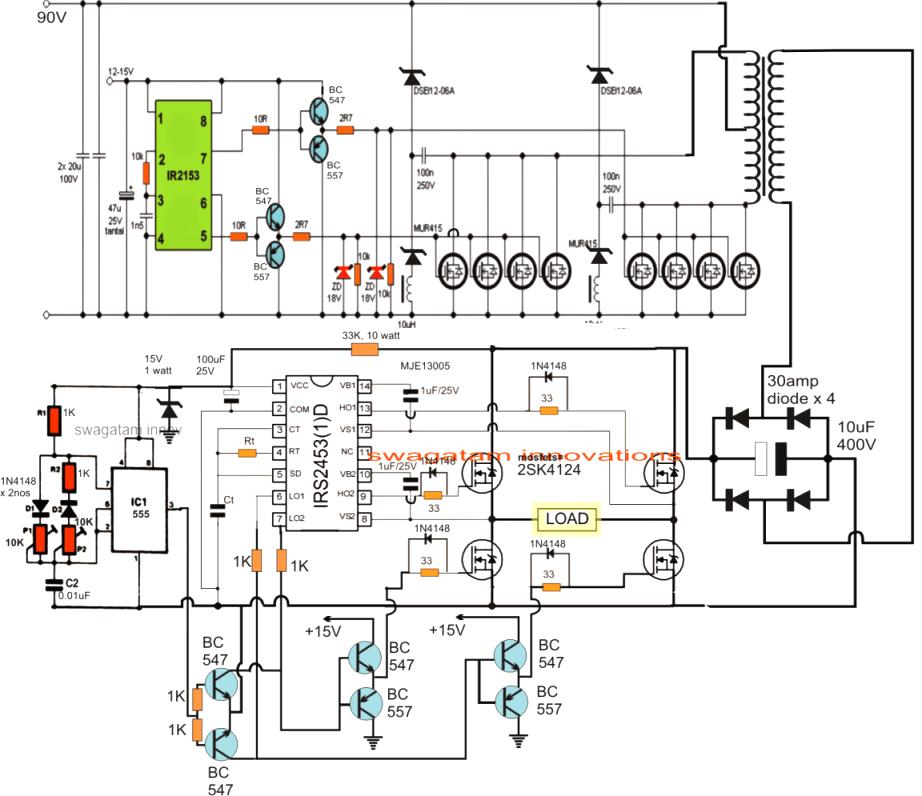 100w inverter schematic circuit diagram world