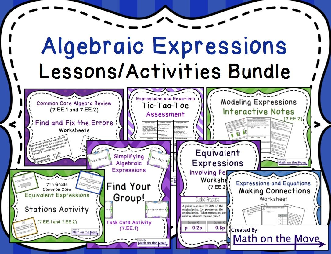 Expressions Lessons And Activities Bundle 7 1
