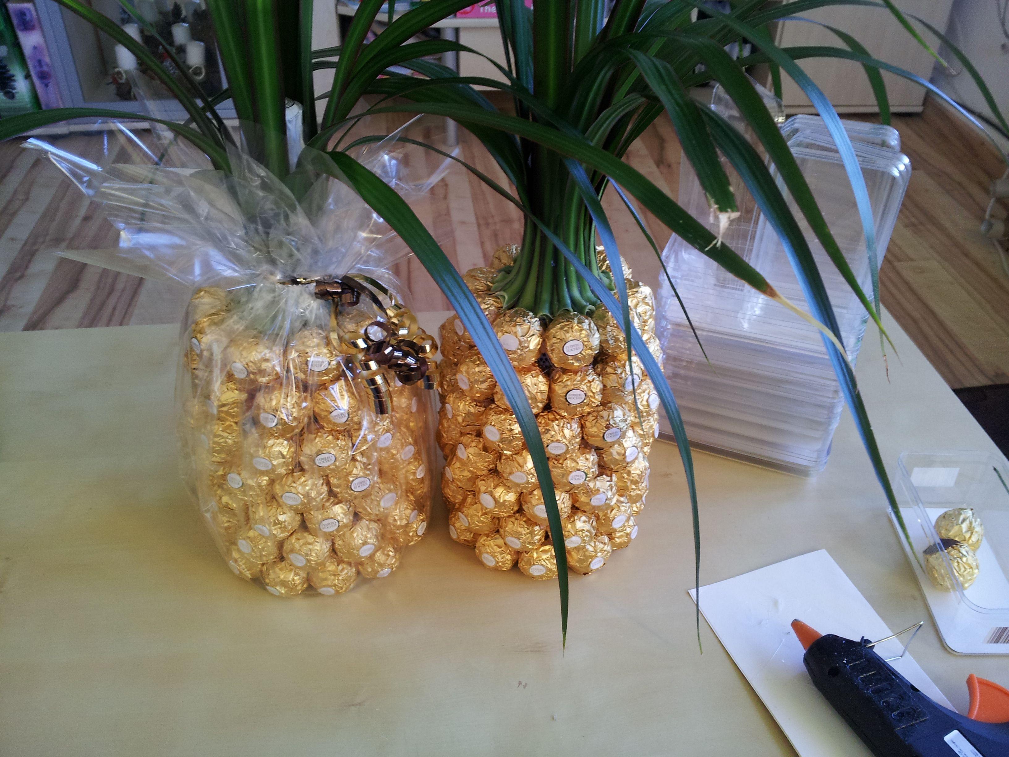 Anleitung fr eine Ferrero Rocher Ananas  Palme  Lee min