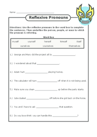 All Worksheets  Reflexive Pronoun Worksheets With Answers ...