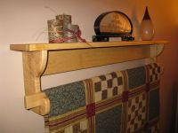 Wall hanging Quilt Rack and Shelf (2)