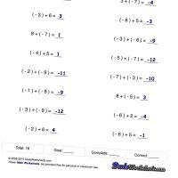 worksheet. Adding And Subtracting Positive And Negative