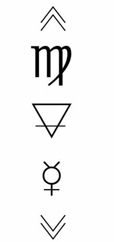 "celestialbitchxx: "" ♍- Astrological symbol of Virgo, the"