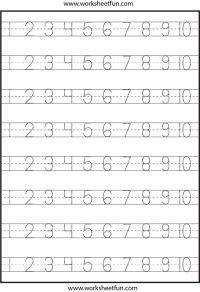 Pre K Number Writing Worksheets - number tracing  4 ...