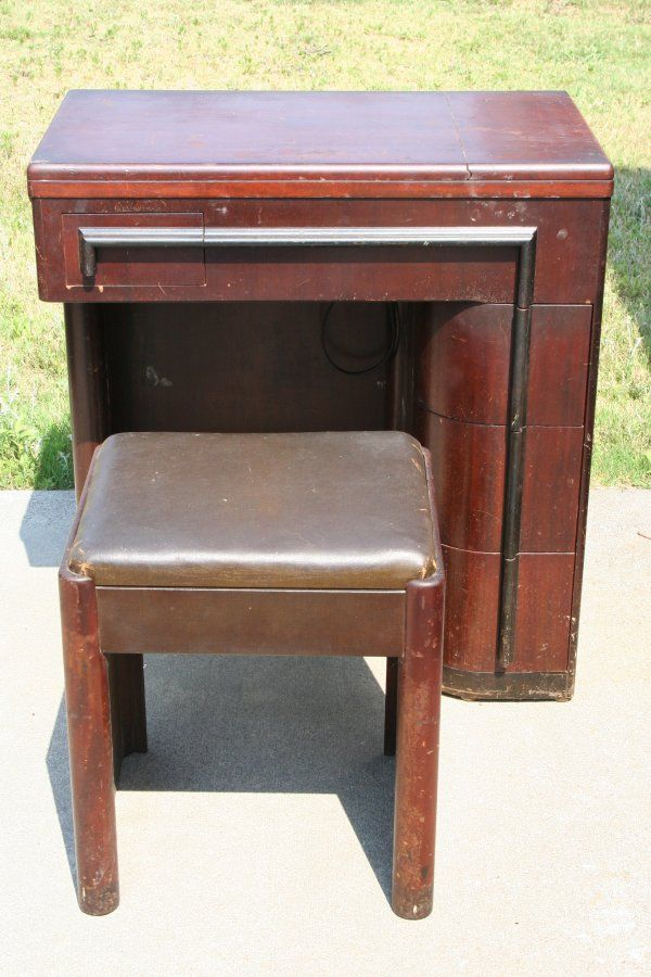Vintage cabinet for Singer sewing machine  Sewing
