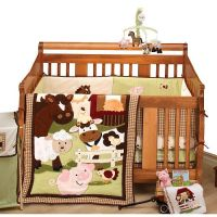 A barnyard full of fun with NoJo Farm Babies 5-Piece Crib ...