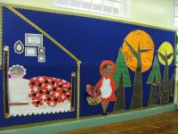 Red Riding Hood display using shapes. Foundation phase