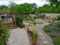 Drought Yard Landscaping | Modern Backyard With Ornamental ...