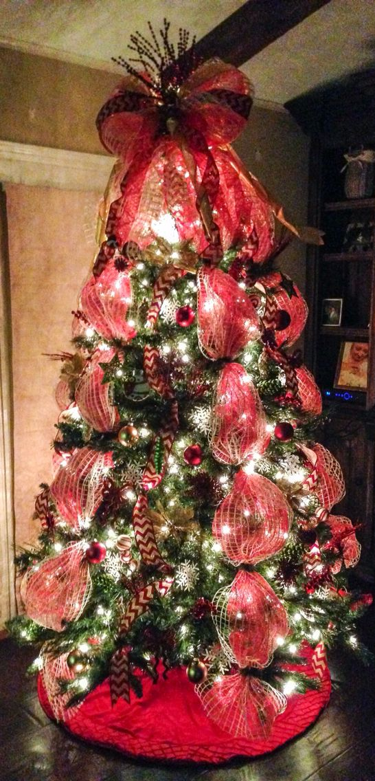 Christmas Deco Tree Mesh Decorated