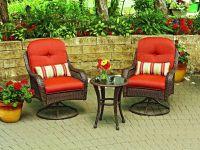 Patio Swivel Chair Set Garden Furniture Outdoor Wicker ...