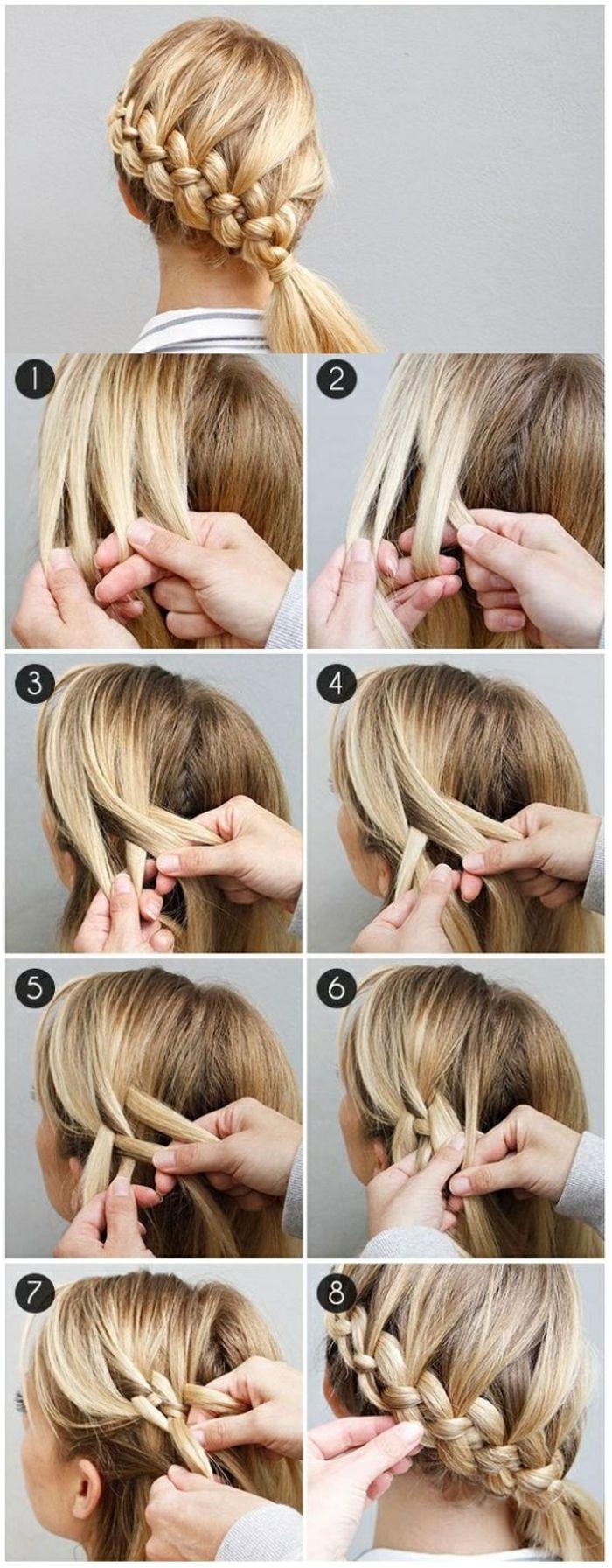 Flechtfrisuren Selber Machen Mittellange Blonde Haare Flechten