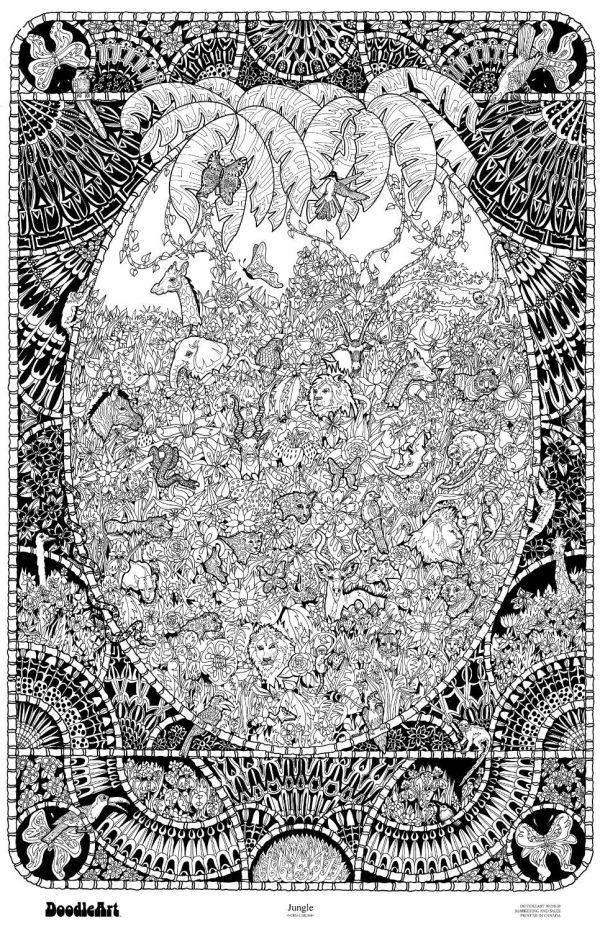Http Original-doodleart-jungle-coloring-poster Dp B005jsxwhq Ref Pd Sbs 21 8