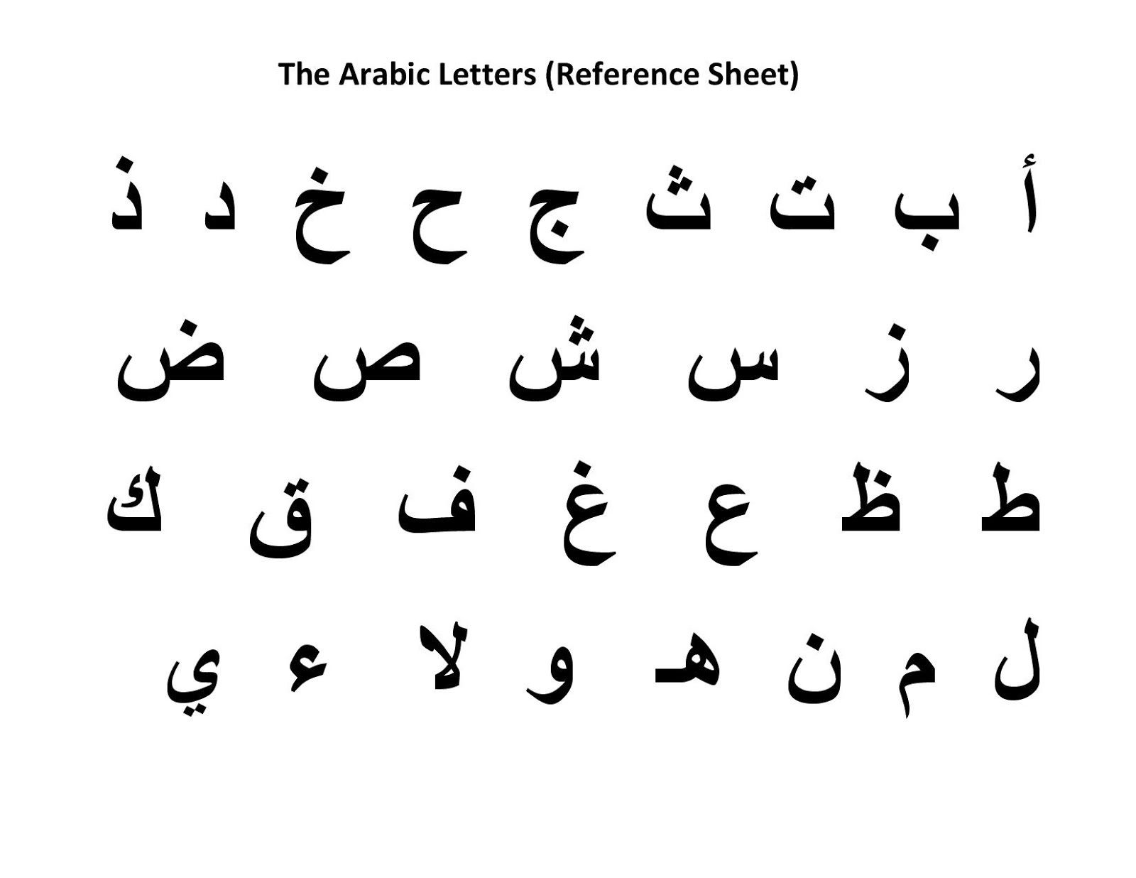 Worksheet For Arabic Students Learning English