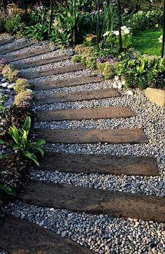 Walkway Old Railroad Ties Google Search Garden Pinterest