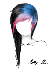 scene girl hair drawings pamper