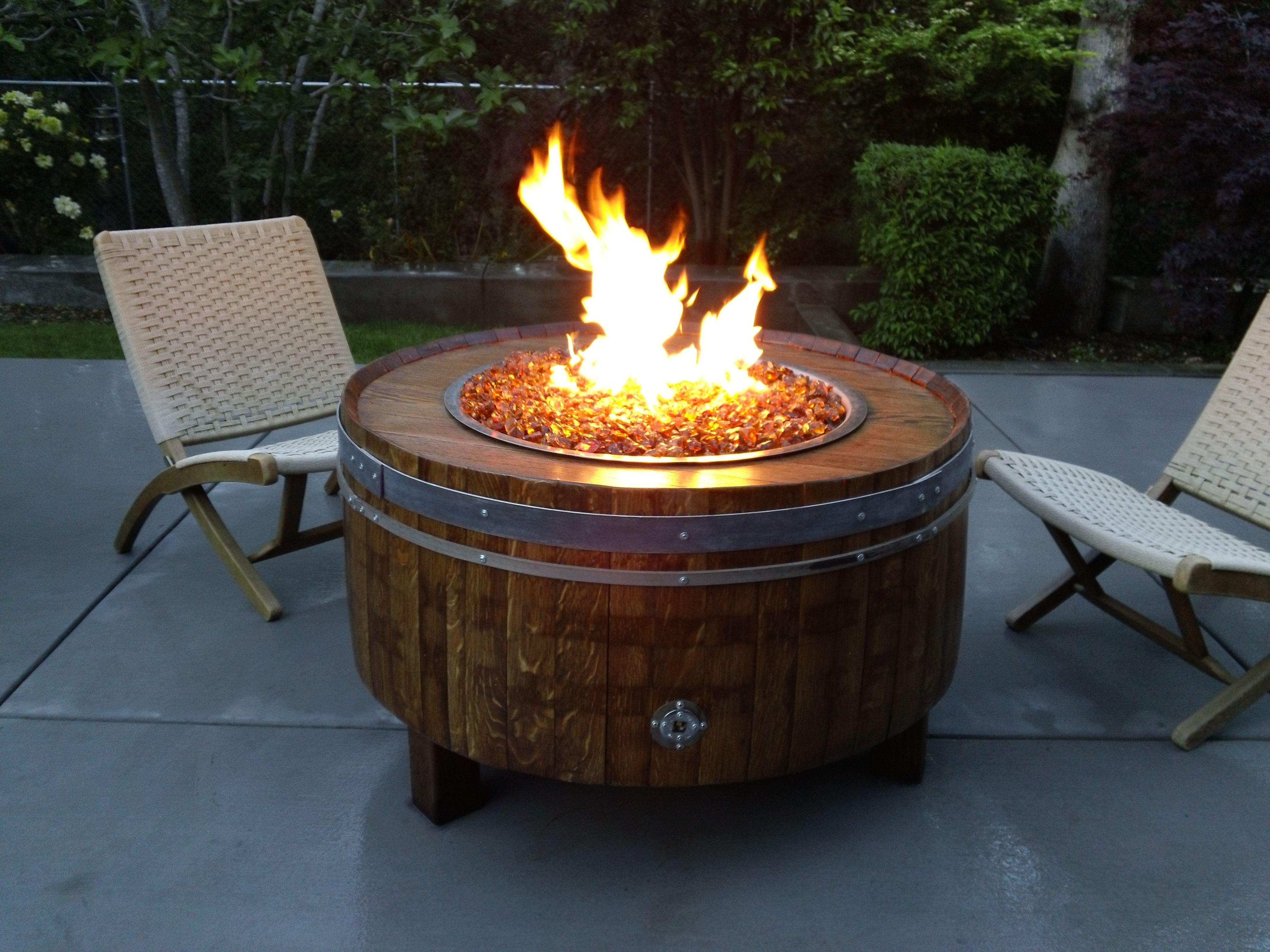 LpGasFirePitDyi  SHOP  Wine Barrel Fire Pits