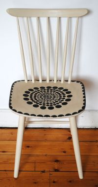 Chalk Paint Chair...add dipped legs... | Painted Chairs ...