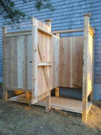 DIY pool outdoor changing stalls | Outdoor Shower Stalls ...