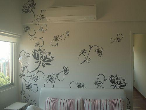 Graphic Wall Paint Idea Pumimi Pinterest Flower Paint