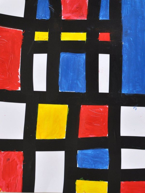 Mondrian Kids Recipe Simple Paintings Dutch
