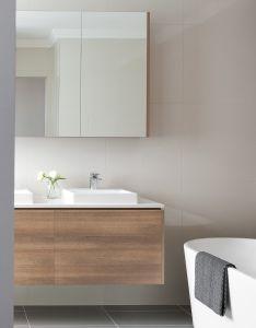 Bathroom designs also sleek looking modern vanity in polytec ravine sepia oak rh nz pinterest