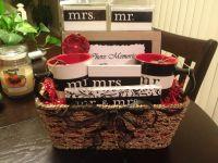 Cute Homemade Bridal Shower Gift Basket. The Mr. & Mrs ...