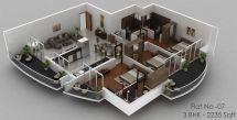 Duplex Floor Plan 3D Home Design