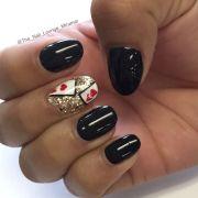 las vegas inspired cards nail art