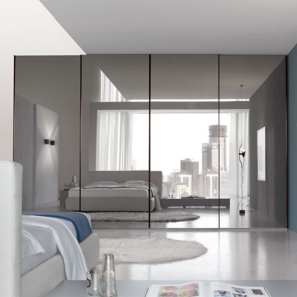 sliding bedroom closet door mirror Bedroom, : Inspiring Large Master Bedroom With Mirrored