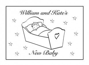 Your child can enjoy colouring in this new baby card and