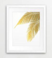 Palm Leaves, Palm Prints, Leaf Print, Gold Leaves ...