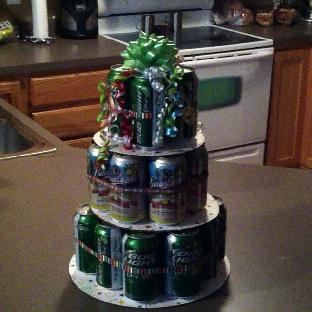 Happy Birthday Beer Cake For A Guy! Gift Ideas