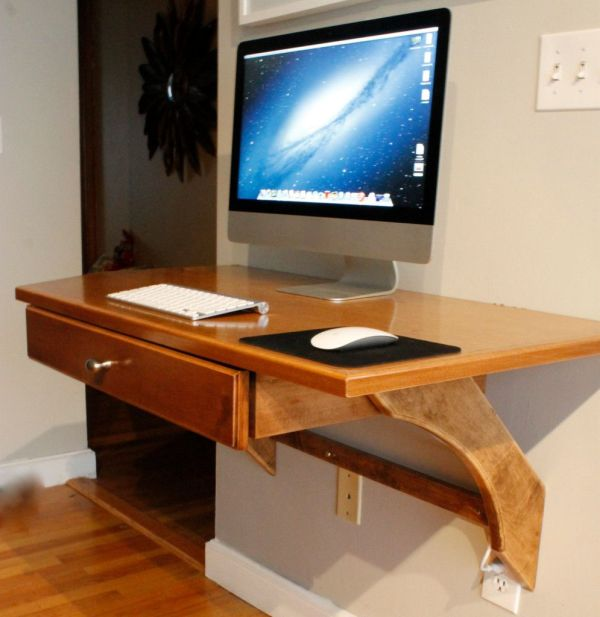 Wall Mounted Desk Design Small Homes