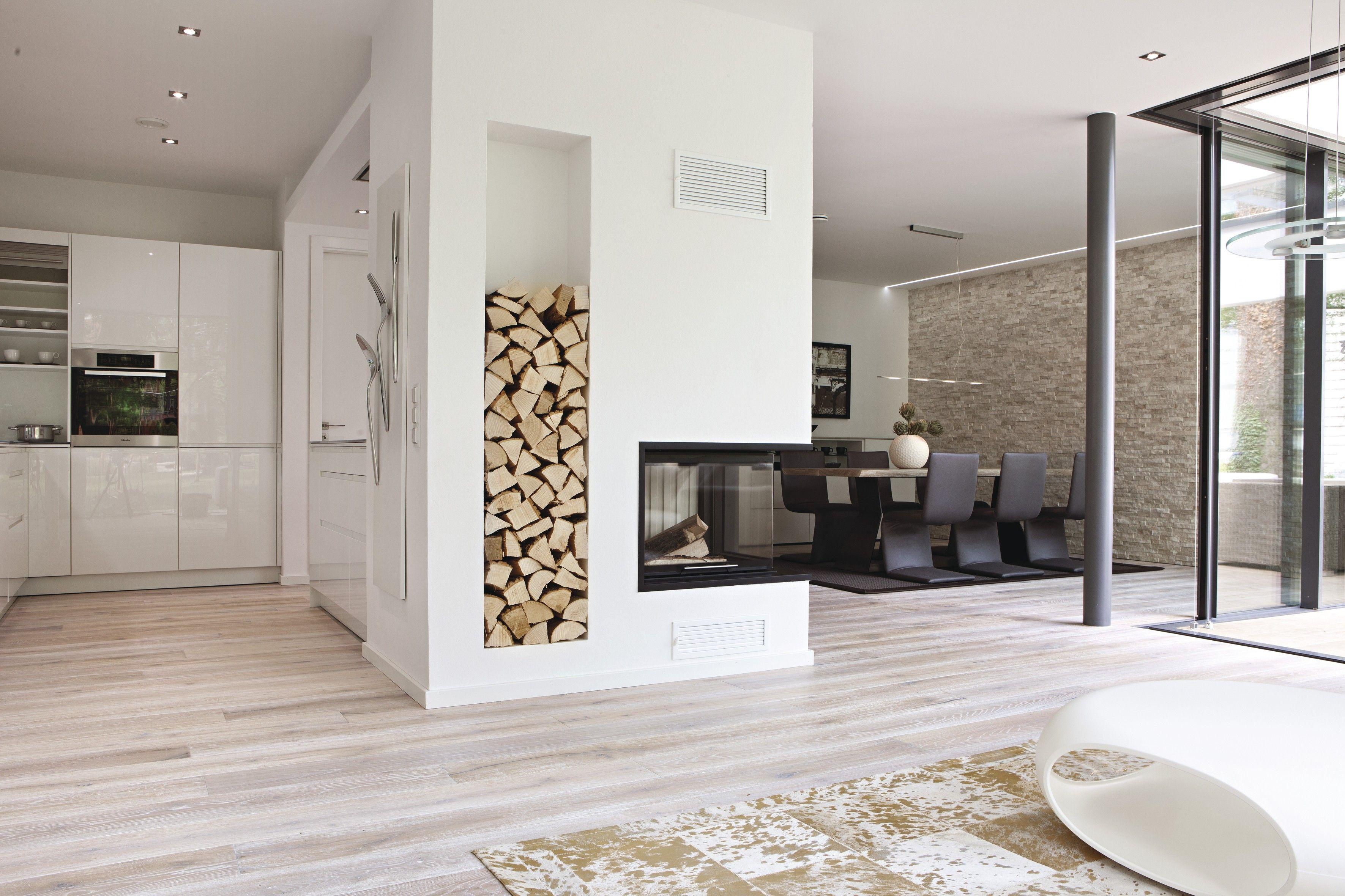 Kamin als Trennung von Küche und Esszimmer Architektur Pinterest Trennung, Küche und