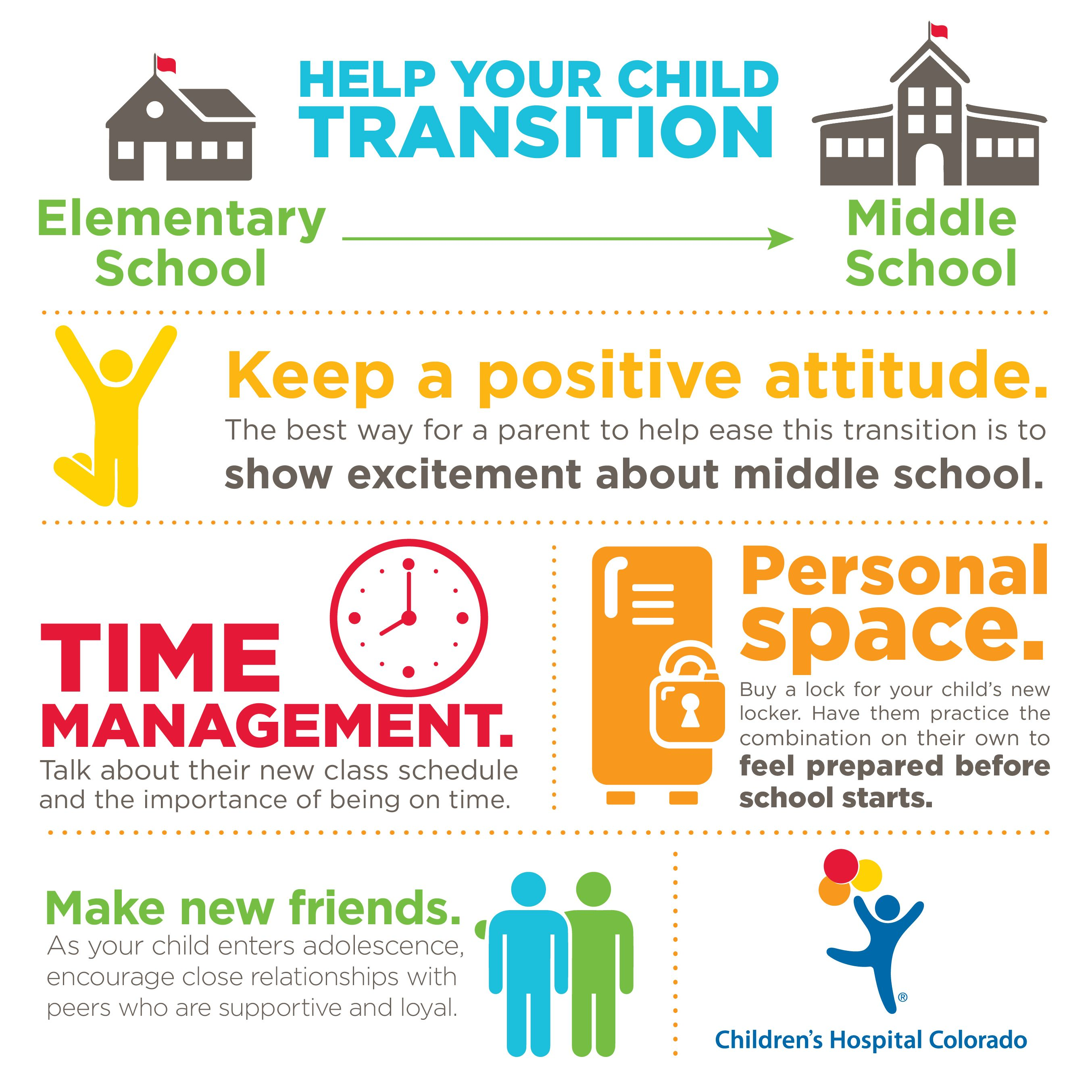 Help Your Child With The Transition From Elementary School