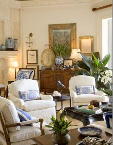 Habitually chic beautiful blue  white decorating pinterest living rooms room and also rh