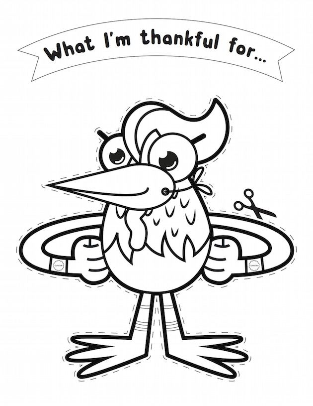 Thankful Turkey: Free Thanksgiving printable from GoNoodle
