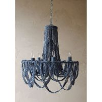 Bead Ribbon Chandelier in Blue - Dot & Bo | Great ideas ...