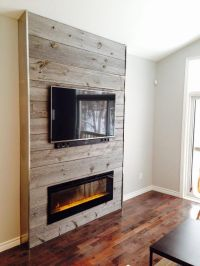 plank accent wall living room | Wood Accent Wall Living ...