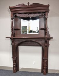 victorian fireplace mantel with mirror | Victorian ...