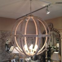 Extra Large Round Wooden Orb Chandelier stunning rustic ...