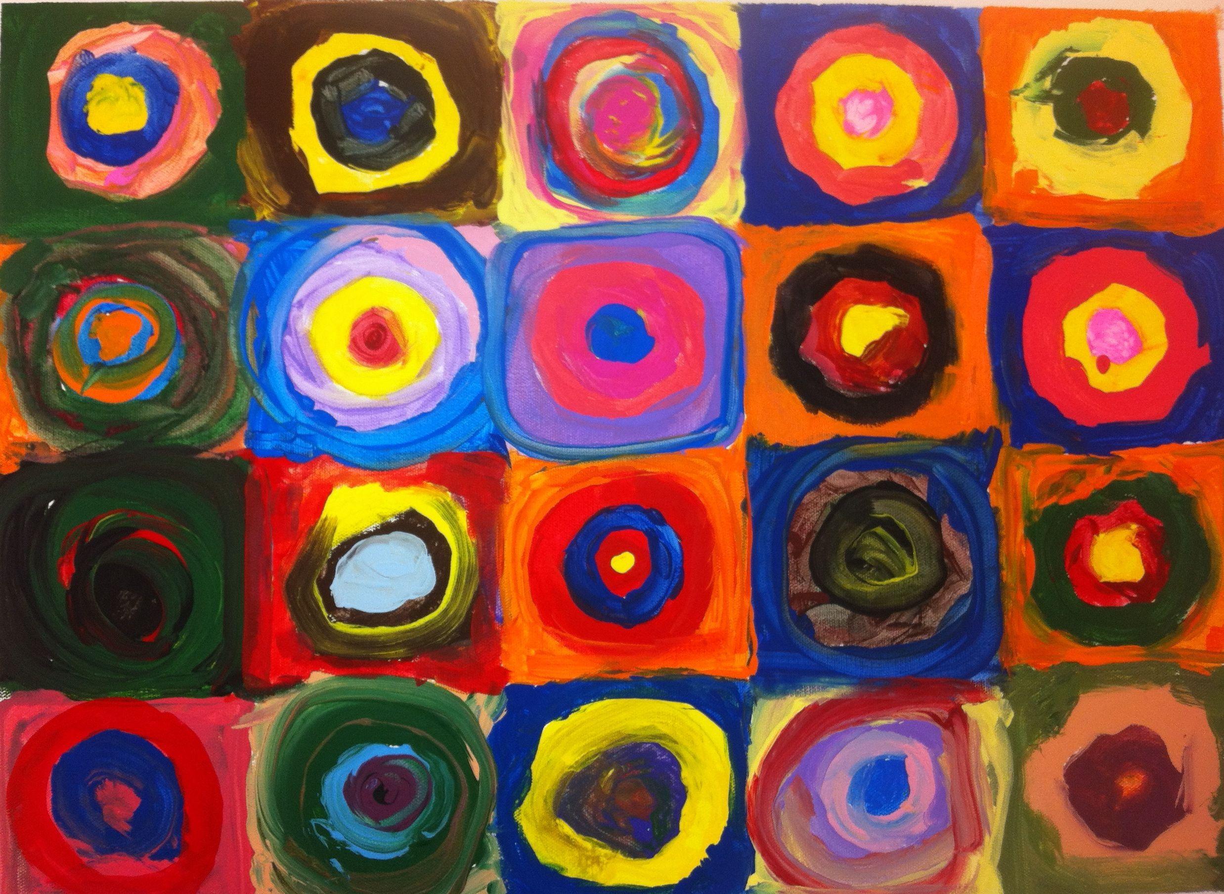 First Grade Art Inspired By Kandinsky So Synesthia