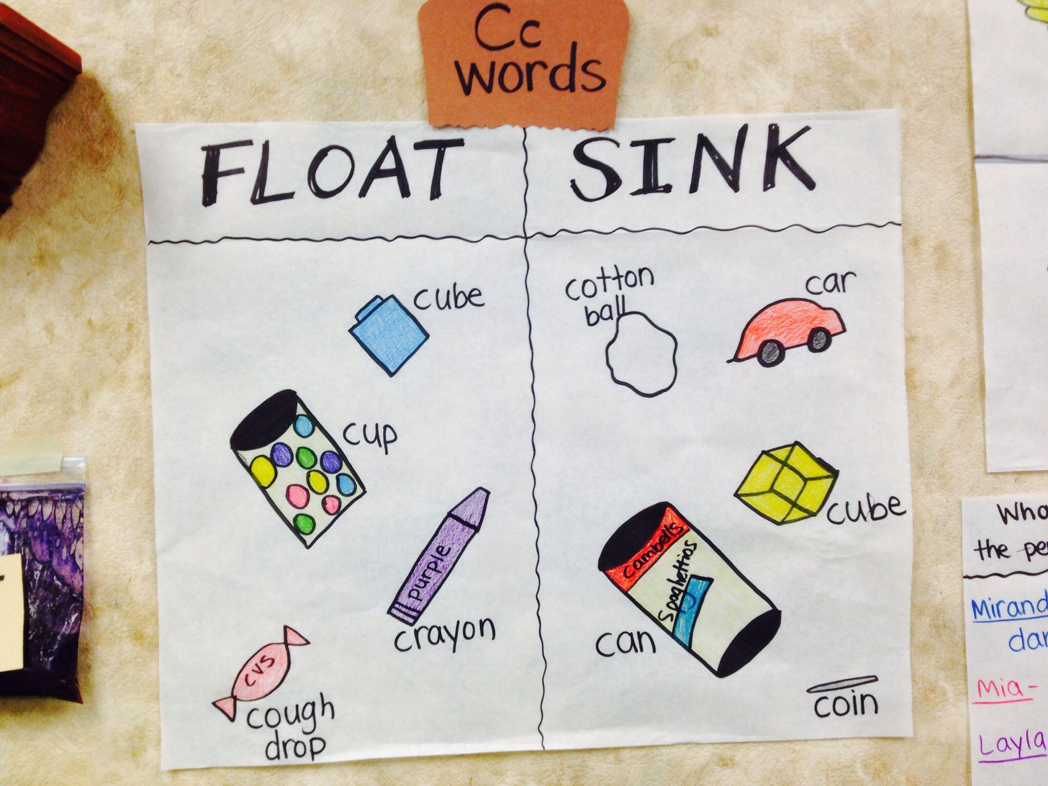 Float Vs Sink C Word Items